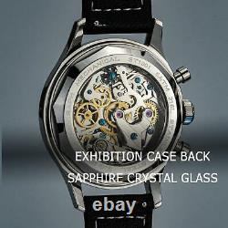 Sugess Champagne Panda Khaki Style Chrono Mens Vintage Watch Seagull 1963