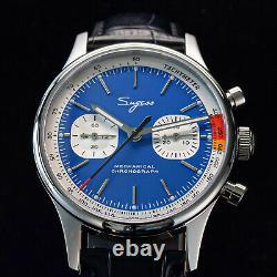 Sugess Chrono Premier SWAN NECK Blue Chrono Watch SEAGULL 1963 SUCHP006K