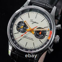Sugess Chrono Premier SWAN NECK Thuder Hand Chrono Watch SEAGULL 1963 SUCHP005K