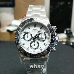 Sugess Chronometer Daytona Ceramic Bezel 7750 Panda Chronograph Watch SU001DAY