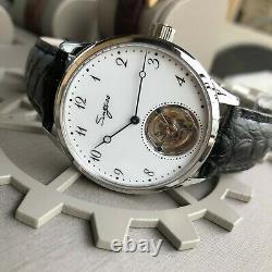 Sugess Enamel Dial Tourbillon Seagull ST8230 Mechanical Mens Mens Watch SU8230SW