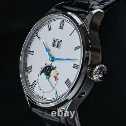 Sugess Enamel MoonPhase Automatic Mechanical Watch Seagull ST1908 1963 SU2528SW