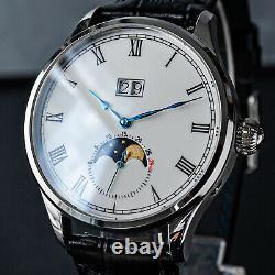 Sugess Enamel MoonPhase Master Automatic Mechanical Watch Seagull 1963 SU2528SW