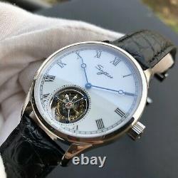 Sugess Enamel Tourbillon Roma Seagull ST8230 Mechanical Mens Watch SU8230RSW