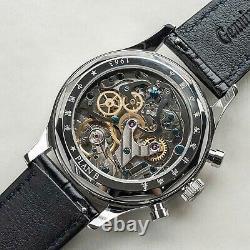 Sugess GOLD SWAN NECK GLACIER SILVER Mechanical Watch Seagull 1963 SUPANK091SN