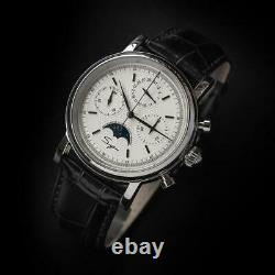 Sugess GOLD SWAN NECK MoonPhase Chronograph Watch Seagull 1963 SU1908SWX