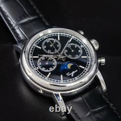 Sugess GOLD SWAN NECK MoonPhase Master Chronograph Watch Seagull 1963 SU1908BSBX