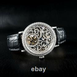 Sugess Genuine Tourbillon Seagull ST8000K Mechanical Skeleton Watch SU8000KSD