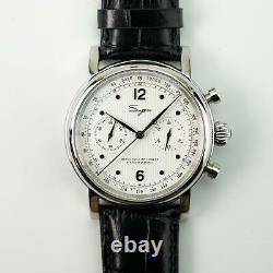 Sugess Heritage White Chronograph Mechanical Mens Watch Seagull Movement 1963