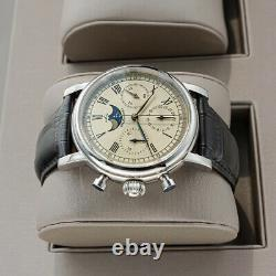 Sugess MoonPhase 29 1/2 Day Chronograph Mechanical Watch Seagull 1963 SUM199S