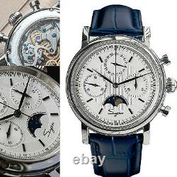 Sugess MoonPhase Master Chronograph Mechanical Watch Seagull 1963 SU1908SBE/X