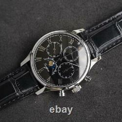 Sugess MoonPhase Master II Chronograph Mechanical Watch Seagull 1963 Black