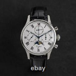 Sugess MoonPhase Master II Chronograph Mechanical Watch Seagull 1963 SU1908CSWX