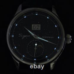 Sugess MoonPhase Master Star Dust DIAL Mechanical Watch Seagull 1963 SU2528STRB