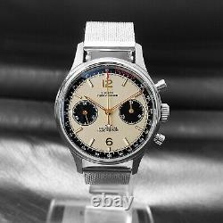Sugess Panda Chrono Chronograph Mechanical Mens Watch Seagull 1963 SUPAN008GN/SN
