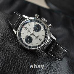 Sugess Racing Panda Chronograph Mechanical Mens Watch Seagull 1963 SUPAN001GN/SN