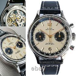 Sugess Racing Panda Chronograph Mechanical Mens Watch Seagull 1963 SUPAN002GN/SN