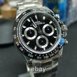 Sugess Top Chronometer Daytona Genuine Ceramic 7750 Chronograph Watch SU002DAY