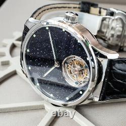 Sugess Tourbillon Blue GoldStone Star Dust Dial Seagull ST8230 Watch SU8230STRE