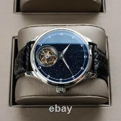 Sugess Tourbillon Blue Star Dust Dial Seagull ST8230 Mechanical Watch SU8230STRA