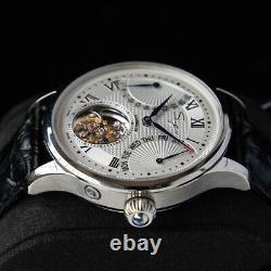 Sugess Tourbillon Master Day Date Seagull ST8004 Mechanical Mens Watch Silver