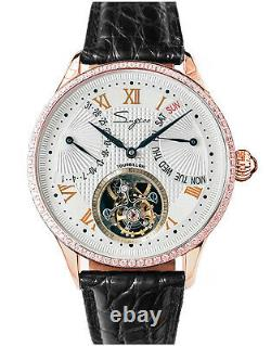 Sugess Tourbillon Master Day Date Seagull ST8004 Mechanical Watch SU8004GW7