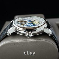 Sugess Tourbillon Master Enamel Earth Dial Seagull ST8000 Mechanical Mens Watch