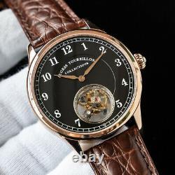 Sugess Tourbillon Master Rose Gold Black Seagull ST8000 Mechanical Mens Watch