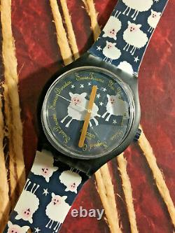 Swatch X-LARGE SUDN101 Black Sheep Too NEW RARE BEAUTIFUL CHRISTMAS GIFT