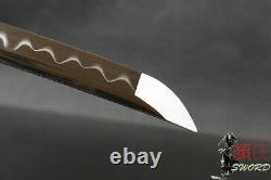 T10 Carbon Steel Japanese Samurai Sword Katana Clay Tempered Wonderful Xmas Gift