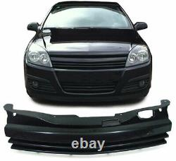 Vauxhall Astra H Black Debadged Front Grill 3/2004-10/2006 Model Christmas Gift