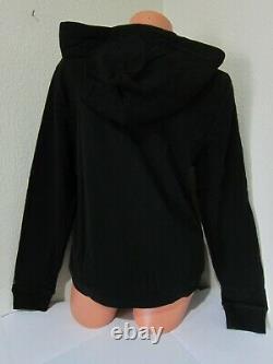 Victoria Secret Pink BLACK SCRIPT FULL ZIP HOODIE SWEATSHIRT CLASSIC PANT XL SET