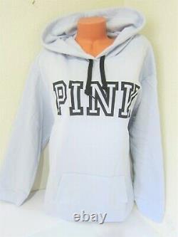 Victoria Secret Pink BLUE PULLOVER HOODIE SWEAT SHIRT SKINNY JOGGER PANT XL SET
