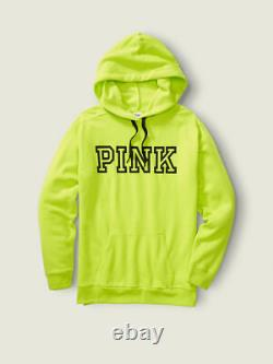 Victoria Secret Pink NEON PULLOVER HOODIE SWEAT SHIRT + SKINNY JOGGER PANT L SET