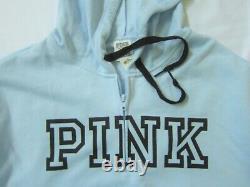 Victoria Secret Pink QUARTER ZIP PULLOVER HOODIE SWEAT SHIRT CLASSIC PANT XL SET