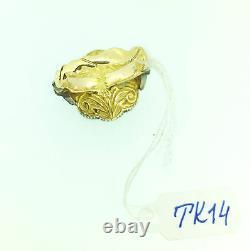 Vintage Style Diamond Ring TCW 2.34 Black Rhodium 18k Yellow Gold Christmas Gift