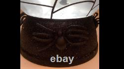 WOW! Light-up Water Globe FLYING BATS PEDESTAL 3-Wick Candle Holder Stand spider