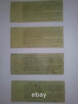Woodstock'69 /4 Globe Tkts/$7 Blk. Print/adv Sale/($492/tkt)great Christmas Gift